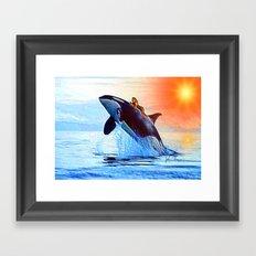 Orca Queen Framed Art Print