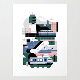 Vienna Airport / Schwechat Art Print