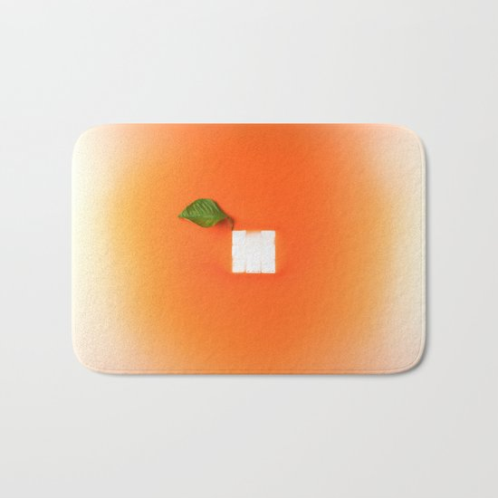 Orange out of the box Bath Mat