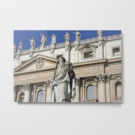 Vatican Sculptures Metal Print