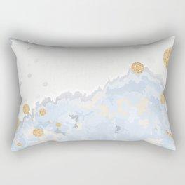 Blue & Gold Art Rectangular Pillow