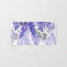 Purple Wisteria Flowers Hand & Bath Towel