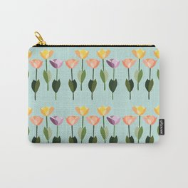 Orderly Tulips Carry-All Pouch