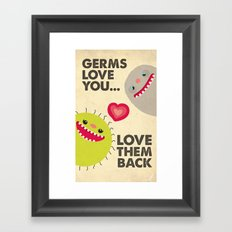 Germs Love You Framed Art Print