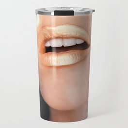 Metallic Lip Travel Mug
