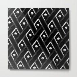 Black Diamond with White Studs Metal Print