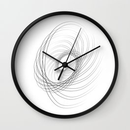 """Fly Collection"" - Abstract Minimal Letter C Print Wall Clock"