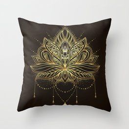 Ornamental Lotus flower Throw Pillow