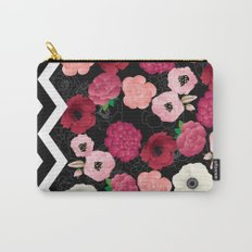 Chevron Flowers Carry-All Pouch