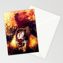 baboon monkey wsls Stationery Cards