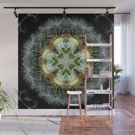 Dandelion Kaleidoscope Mandala, Scanography Art Wall Mural