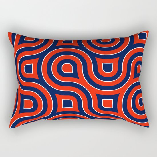 Red Deep blue spirale Rectangular Pillow