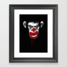 Evil Monkey Clown Framed Art Print