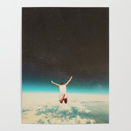 Falling with a hidden smile Poster