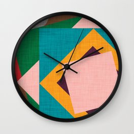 Kilim Flower grey Wall Clock