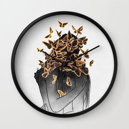 The butterflies of love. Wall Clock