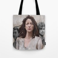 outlander Tote Bags featuring Outlander by Gabriella McGregor