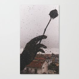 PHOTOGRAPHY- rose and rain Canvas Print
