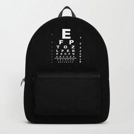 Inverted Eye Test Chart Backpack