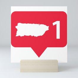 Puerto Rico one love Mini Art Print