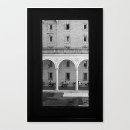 Narrow Aisle of Pain - Boston Public Library Courtyard Canvas Print