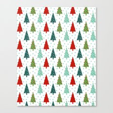 Christmas Tree holiday dots snow polka dot minimal modern geometric christmas decor design Canvas Print