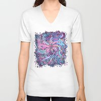 mosaic V-neck T-shirts featuring Mosaic by Antracit