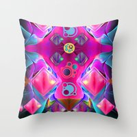 diamonds Throw Pillows featuring Diamonds by thea walstra