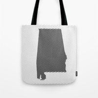 alabama Tote Bags featuring Alabama Line by Beastie Toyz