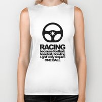 racing Biker Tanks featuring Racing Quotes by Barbo's Art