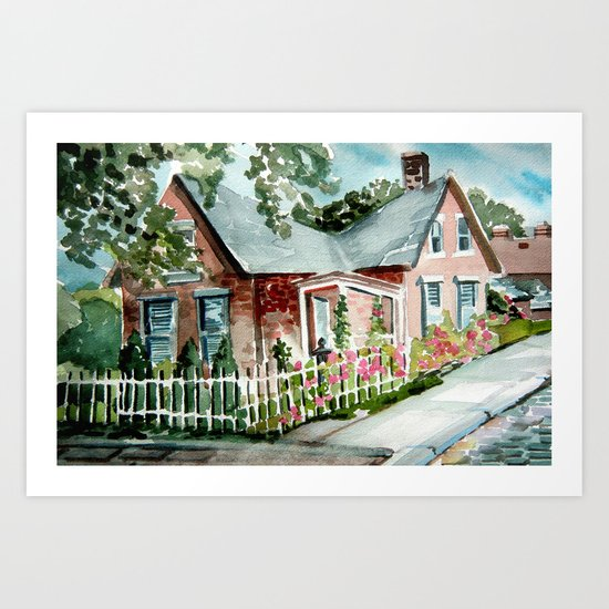German Village House in Columbus, Ohio Art Print