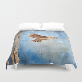 Snow Wanderer Duvet Cover