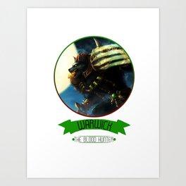 League Of Legends - Warwick Art Print