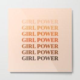 Girl Power // in Earthy Shades Metal Print