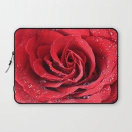 Red Swirl Rose Laptop Sleeve