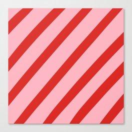 Reddy Stripes Canvas Print