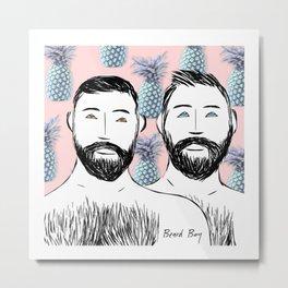 Beard Boys: Manu & Dani Metal Print