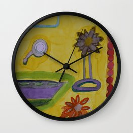 The Yellow Bathroom Wall Clock