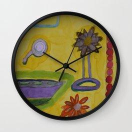 The Yellow Bathroom Wall Clock