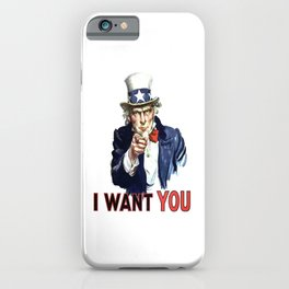 Uncle Sam I Want You iPhone Case