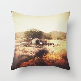 Below the Mountain Throw Pillow