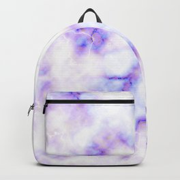 Pattern of purple marble Backpack