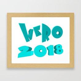 Hero 2018 Framed Art Print