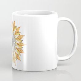 Sunflower Mandala Coffee Mug
