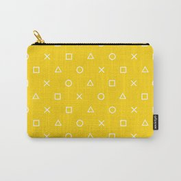Yellow Gamer Pattern Carry-All Pouch