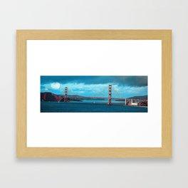 The Golden Gate Bridge in SFO Framed Art Print
