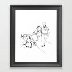 Pepper Spray(Illustration for Police Brutality Coloring Book) Framed Art Print