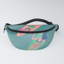 Surf Sisters - Pastel Pacific Ocean Green Fanny Pack