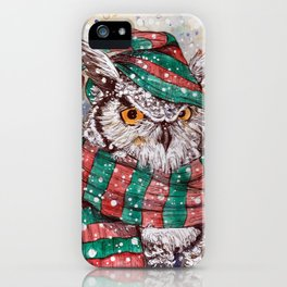 christmas owl iPhone Case