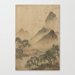 LANDSCAPE PAINTINGS IN THE STYLE OF WANG HUI (1632-1717), QING DYNASTY, 19TH CENTURY 2 Canvas Print